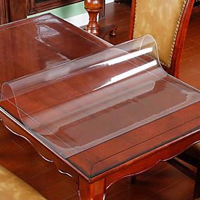 billige Bordduker-Moderne PVC Kvadrat Duge Ensfarget Borddekorasjoner