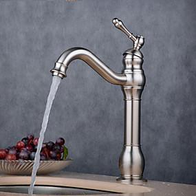 billige Ugentlige tilbud-Baderom Sink Tappekran - Utbredt galvanisert Annet Enkelt Håndtak Et HullBath Taps / Messing
