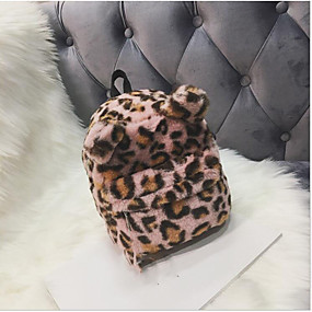 cheap Preschool Backpacks-Girls' Bags Polyester Backpack Zipper Green / White / Pink
