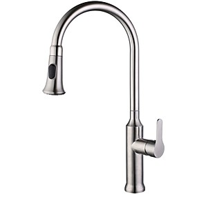 abordables Spray Amovible-Robinet de Cuisine - Mitigeur un trou Pull-out / Pull-down Moderne Kitchen Taps