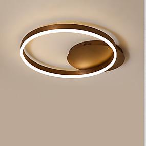 tanie Mocowanie przysufitowe-KAKAXI Okrągły Lampy sufitowe Downlight Szczotkowany Aluminium Akryl Przygaszanie 220-240V / 100-120V Przyciemnianie pilotem