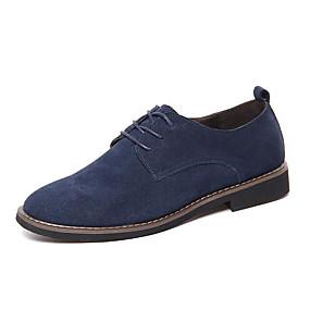 baratos Oxfords Masculinos-Homens Sapatos Confortáveis Camurça Outono & inverno Oxfords Preto / Azul Escuro / Marron