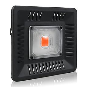 abordables Lampe de croissance LED-1 set 50 W 3000 lm 1 Perles LED Spectre complet Installation Facile Pour Greenhouse Hydroponic Luminaire croissant Violet 220-240 V 110-120 V Commercial