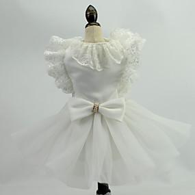abordables Cadeaux Utiles pour Invités-Mariage Dentelle / Organza Vêtements pour Chien Jupe robe de mariage de chien - 1 pcs