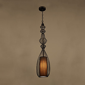 billige Hengelamper-CONTRACTED LED® geometriske / Lanterne Anheng Lys Nedlys Malte Finishes Metall Øyebeskyttelse, Nytt Design 110-120V / 220-240V
