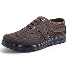 baratos Sapatilhas e Mocassins Masculinos-Homens Sapatos Confortáveis Lona Primavera & Outono Mocassins e Slip-Ons Café / Verde Escuro