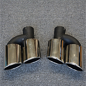 povoljno Dekoracija stražnjeg dijela automobila-2pcs 55-60 mm Savjeti za ispušne cijevi Cool Nehrđajući čelik Ispušni Mufflers Za Audi A4L 2017
