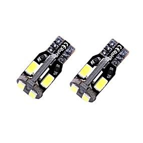 povoljno Svjetla upozorenja-2pcs T10 / W5W Automobil Žarulje 1.35 W SMD 5730 10 LED Svjetlo za registarske tablice / Svjetla u unutrašnjosti / Svjetla bočnih markera Za Univerzális Sve godine