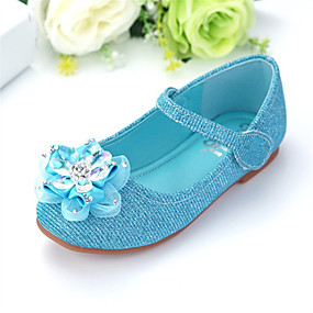 8b0f0011461f Girls  Shoes PU(Polyurethane) Spring   Fall Comfort   Flower Girl Shoes  Flats Bowknot   Sequin   Sparkling Glitter for Kids   Baby Blue   Party    Evening