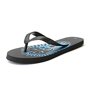 cheap Men's Shoes-Men's Comfort Shoes Rubber Summer Slippers & Flip-Flops Green / Blue