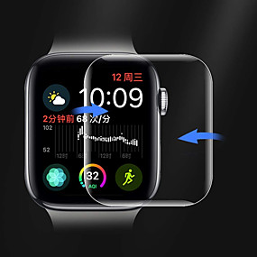 voordelige Smartwatch screenprotectors-Screenprotector Voor Apple Watch Series 4 PET High-Definition (HD) / Ultra dun 1 stuks