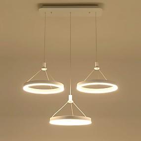 cheap Money Off-Modern Acrylic Simplicity LED Pendant Lights Three Rings Indoor Light For Living Room Bedroom,Restaurant