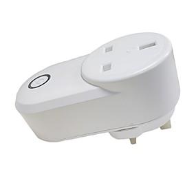 povoljno Pametna kuća-Utičnica / Smart Plug Vremenska funkcija / Ne-Hub potreban / Kontrolirajte svoj pribor s bilo kojeg mjesta 1pc ABS + PC / 750 ° C / anti-plamen retardant Daljinski upravljač / WiFi-omogućen / APP