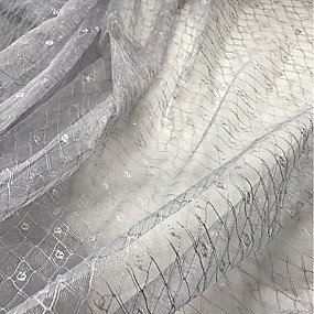 저렴한 공예&바느질-튤 기하학 스트레치 140 cm 폭 구조 용 신부 팔린 ~에 의해 미터