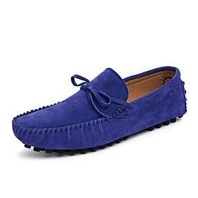 baratos Sapatos Náuticos Masculinos-Homens Mocassim Pele Primavera / Outono Clássico / Casual Sapatos de Barco Não escorregar Café / Vermelho / Azul