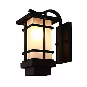 cheap Flush Mount Wall Lights-QINGMING® Waterproof / Mini Style Retro / Country Flush Mount wall Lights / Outdoor Wall Lights Outdoor / Garden Metal Wall Light IP65 110-120V / 220-240V 60 W