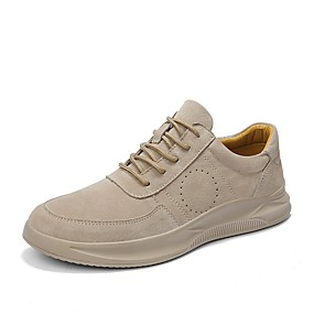 cheap Running Shoes-Men's Comfort Shoes Pigskin Spring Athletic Shoes Running Shoes Gray / Camel
