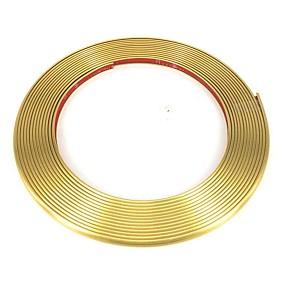 povoljno Ukrasna rasvjeta za automobil-4 metra kromiranje ukrasne letvice traka gume rešetka svjetla za ukrašavanje crte naljepnica kotača glavčina zaštitnik ruba