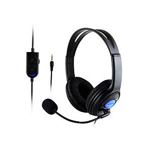 voordelige Gaming-litbest hoofdtelefoon&versterker; hoofdtelefoon bedrade koptelefoon oortelefoon / hoofdtelefoon abs hars gaming oortelefoon met volumeregelaar
