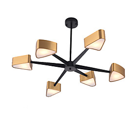 cheap Ceiling Lights & Fans-QINGMING® 6-Light Mini Chandelier Ambient Light Electroplated Painted Finishes Metal Mini Style 110-120V / 220-240V