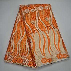ราคาถูก Crafts&Sewing-ลูกไม้แอฟริกัน สไตล์พื้นบ้าน Pattern 120 cm ความกว้าง ผ้า สำหรับ เครื่องแต่งกายและแฟชั่น ขาย โดย 5Yard