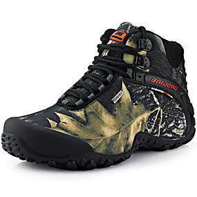 cheap Men's Athletic Shoes-Men's Comfort Shoes Canvas Fall & Winter Sporty / Casual Athletic Shoes Hiking Shoes Warm Camouflage Black / Yellow