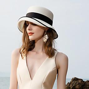 povoljno Kentucky Derby Hat-Prirodno vlakno Kentucky Derby Hat / kape s Pletena traka 1pc Kauzalni / Dnevni Nosite Glava