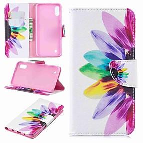 cheap Cellphone Case-Case For Samsung Galaxy Galaxy J6 Plus(2018) / J2 PRO 2018 Wallet / Card Holder / Flip Full Body Cases Flower Hard PU Leather for J6 (2018) / J6 Plus / J4 (2018)