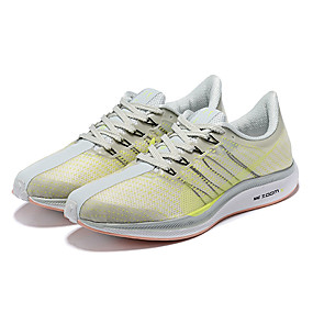 cheap Men's Athletic Shoes-Men's Comfort Shoes Elastic Fabric Spring & Summer Athletic Shoes Running Shoes Light Yellow