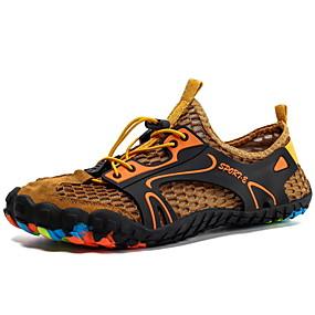 hesapli Erkek Atletik Ayakkabıları-Erkek Ayakkabı Örümcek Ağı Yaz / İlkbahar yaz Sportif Atletik Ayakkabılar Deniz Ayakkabıları / Rahat Kır Ayakkabıları Dış mekan / Kumsal için Gri / Sarı / Ordu Yeşili