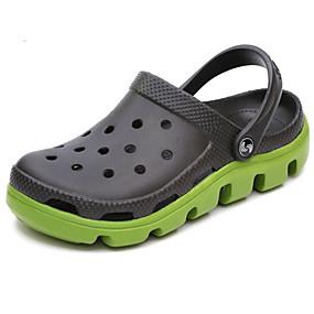 baratos Sandálias Masculinas-Homens Sapatos Confortáveis Borracha Verão Sandálias Preto e Prateado / Branco / Preto / Preto / Vermelho / Ao ar livre