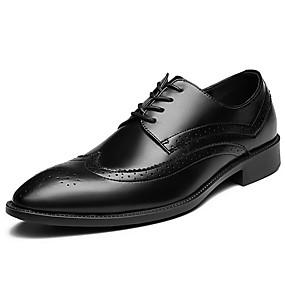 baratos Oxfords Masculinos-Homens Sapatos formais Sintéticos Primavera / Outono Casual / Formais Oxfords Não escorregar Preto / Lantejoulas / Sapatos de vestir