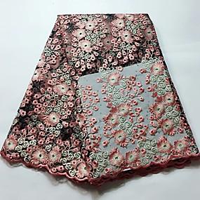 billige Sying og håndarbeid-Afrikansk blonder Blomster Mønster 120 cm bredde stoff til Brude selges ved 5Yard