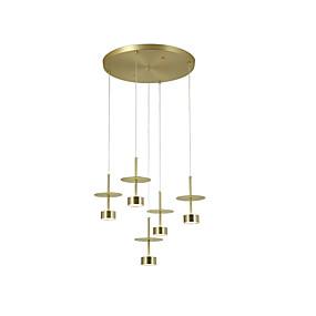 billige Hengelamper-ZHISHU 5-Light Cluster / geometriske / Mini Anheng Lys Nedlys galvanisert Metall 110-120V / 220-240V Varm Hvit / Hvit