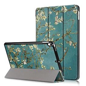 billige Nettbrettilbehør-Etui Til Apple iPad Mini 5 / iPad New Air (2019) Støtsikker / Flipp / Mønster Heldekkende etui Blomsternål i krystall Hard PU Leather