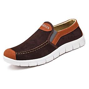 baratos Sapatilhas e Mocassins Masculinos-Homens Sapatos Confortáveis Camurça Primavera Mocassins e Slip-Ons Castanho Escuro / Azul Escuro / Cinzento