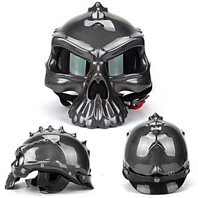 cheap 90%OFF-Full Face Adults Men's Motorcycle Helmet  Sports / Impact Resistant / Shockproof