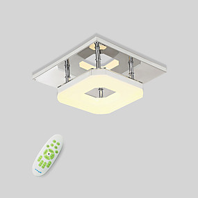 저렴한 특별 할인 및 프로모션-플러쉬 마운트 엠비언트 라이트 일렉트로플레이티드 금속 LED 90-241V 웜 화이트 / 화이트 / 원격 제어로 조광 가능 LED 광원 포함 / 집적 LED
