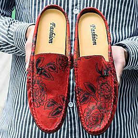 baratos Tamancos Masculinos-Homens Sapatos Confortáveis Couro Ecológico Verão Casual Tamancos e Mules Não escorregar Laranja / Azul Escuro / Vermelho