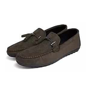 cheap Men's Shoes-Men's Moccasin PU(Polyurethane) Spring & Summer Casual Loafers & Slip-Ons Non-slipping Black / Gray / Green