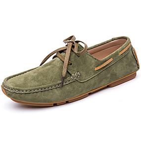 baratos Sapatos Náuticos Masculinos-Homens Mocassim Camurça Inverno / Primavera Verão Clássico / Casual Sapatos de Barco Não escorregar Preto / Verde / Marron