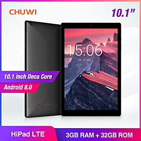 billige CHUWI-CHUWI HiPad LTE 10.1 tommers phablet / Android tablet ( Android 8.0 1920*1200 Ti kjerne 3GB+32GB )