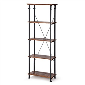 cheap Living Room Furniture-Living Room Kitchen Storage 4-Shelf Bookcase Bookshelf Vintage Industrial Style