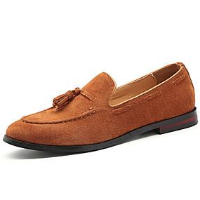 baratos Sapatos Náuticos Masculinos-Homens Mocassim Camurça Outono / Primavera Verão Clássico / Casual Sapatos de Barco Não escorregar Preto / Marron / Café