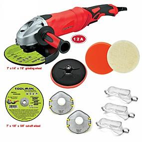 billige Værktøj-toolman 11st vinkelslibemaskine 7 12a 6 variabel hastighed& afskåret hjulslibeskive