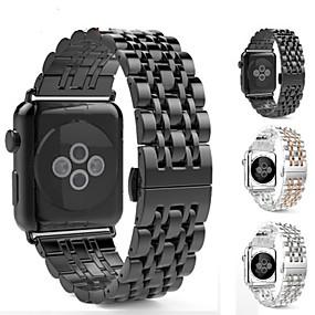 halpa Smartwatch-nauhat-Watch Band varten Apple Watch -sarja 5/4/3/2/1 / Apple Watch Series 4/3/2/1 Apple Moderni solki Ruostumaton teräs Rannehihna