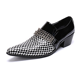 7531dce2f4c4 Men's Novelty Shoes Patent Leather Spring & Summer British Loafers &  Slip-Ons Breathable Black / White / Wedding / Party & Evening