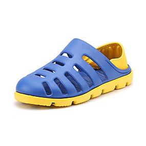 baratos Tamancos Masculinos-Homens Sapatos Confortáveis PVC Verão Esportivo / Casual Tamancos e Mules Caminhada / Tênis Anfíbio Respirável Estampa Colorida Cinzento / Marron / Azul