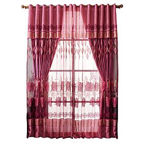 abordables Livraison Gratuite-Moderne Un Panneau Pur Chambre à coucher   Curtains