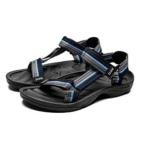 baratos Sandálias Masculinas-Homens Sapatos Confortáveis Tricô / Tecido elástico Verão Casual Sandálias Não escorregar Estampa Colorida Vermelho / Verde / Azul